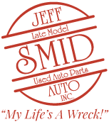 Jeff Smid Auto Inc. Logo Automotive Parts Used Auto Parts Wrecking Davenport Iowa Quad Cities Recycling Metal Scrap Auto